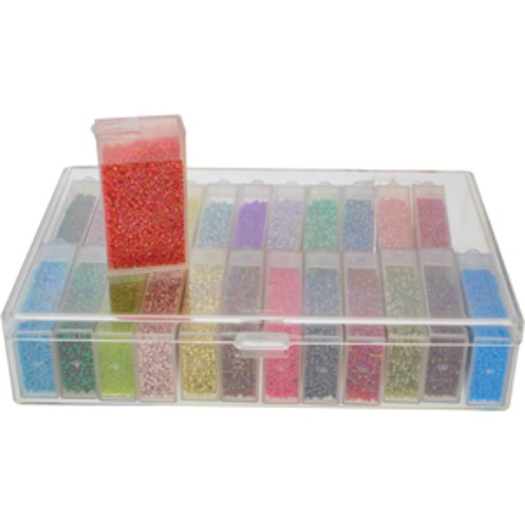 Storage Box with 24 flip top cases image 0