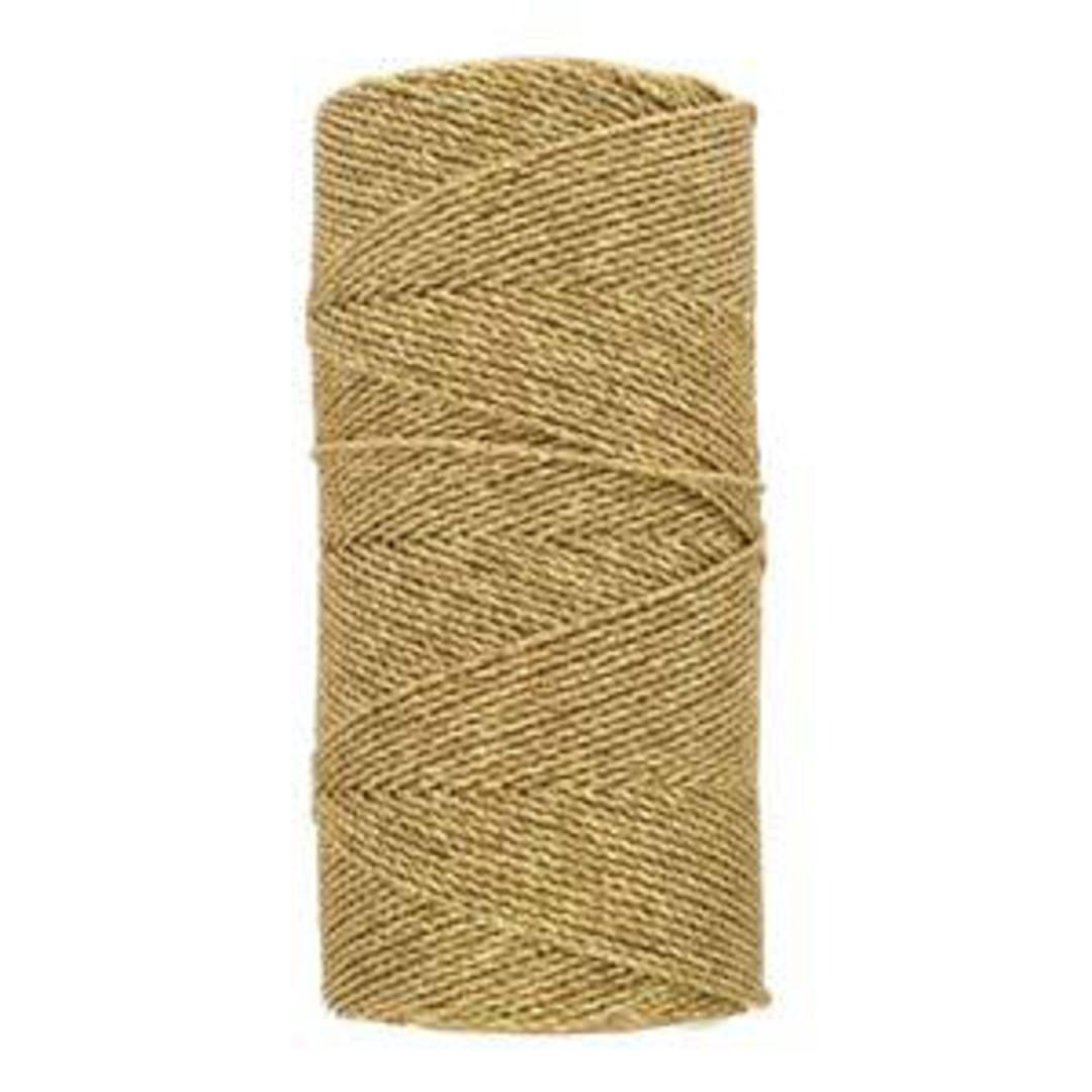 NEW! 1mm Knot-It Brazilian Waxed Polyester Cord: Metallic Gold image 0