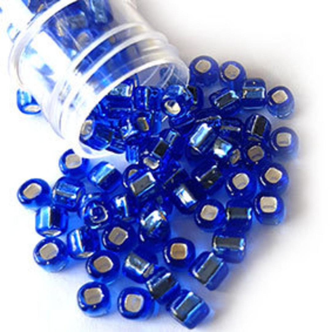 Matsuno size 6 round: 19 - Sapphire, silver lined image 0