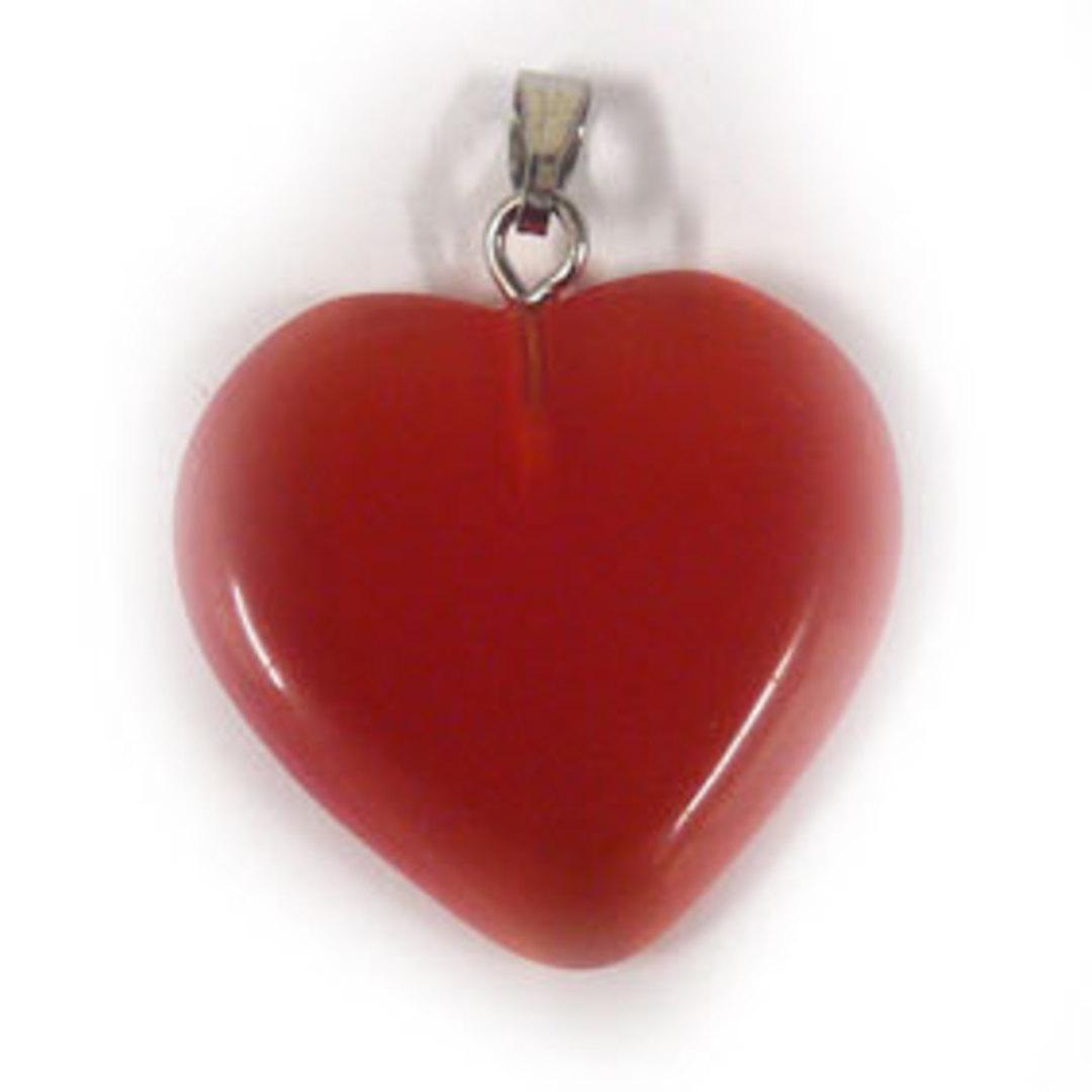 22mm Fibre Optic Heart: Orange image 0