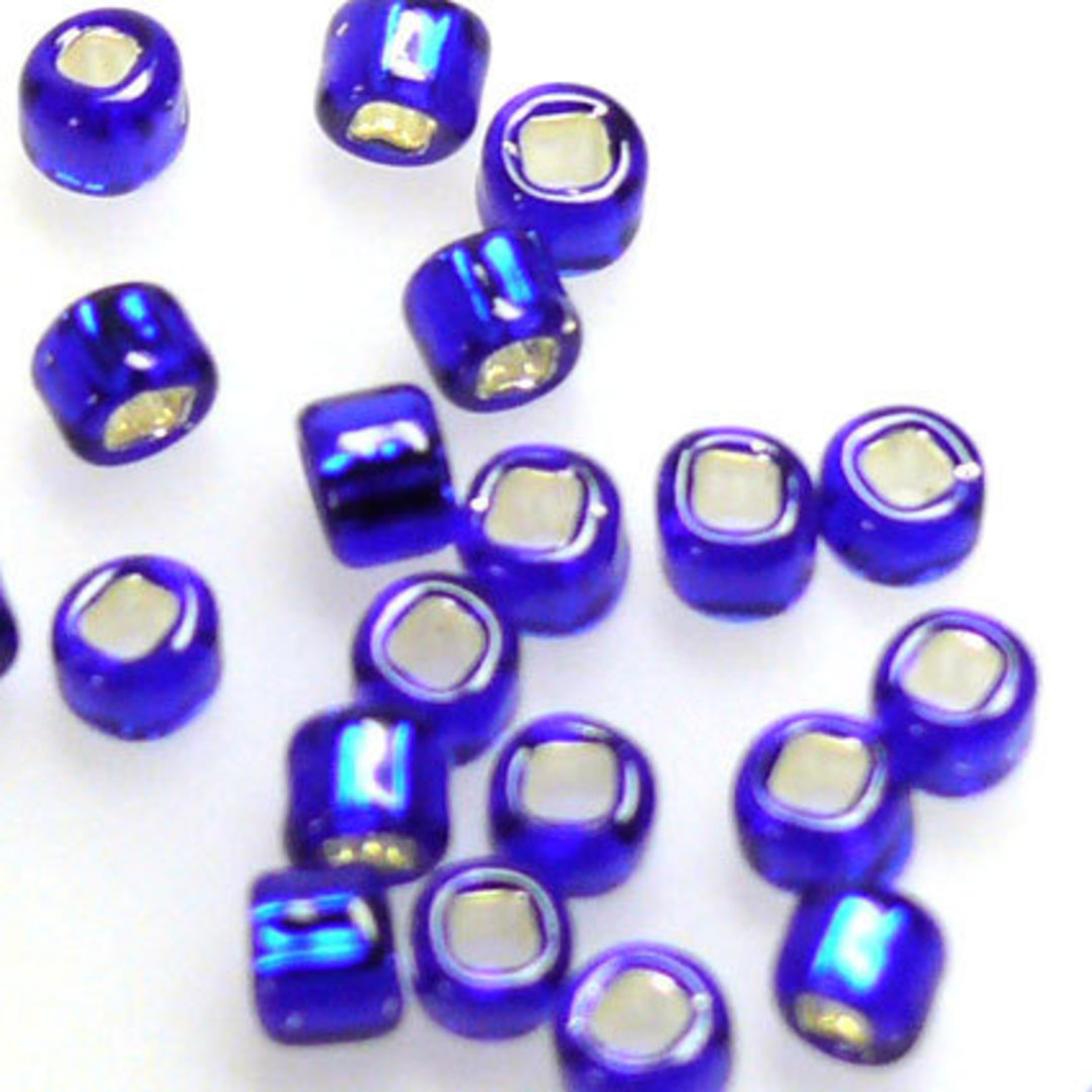 Matsuno size 8 round: 20 - Cobalt, silver lined image 1