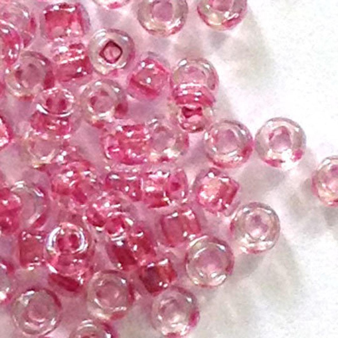 Miyuki size 11 round: 704 - Vintage Pink, colour lined image 0