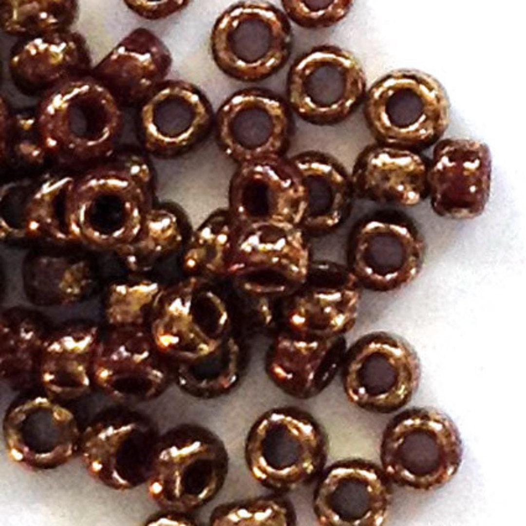 Toho size 11 round: 1705 - Brown, bronze colourwash image 0