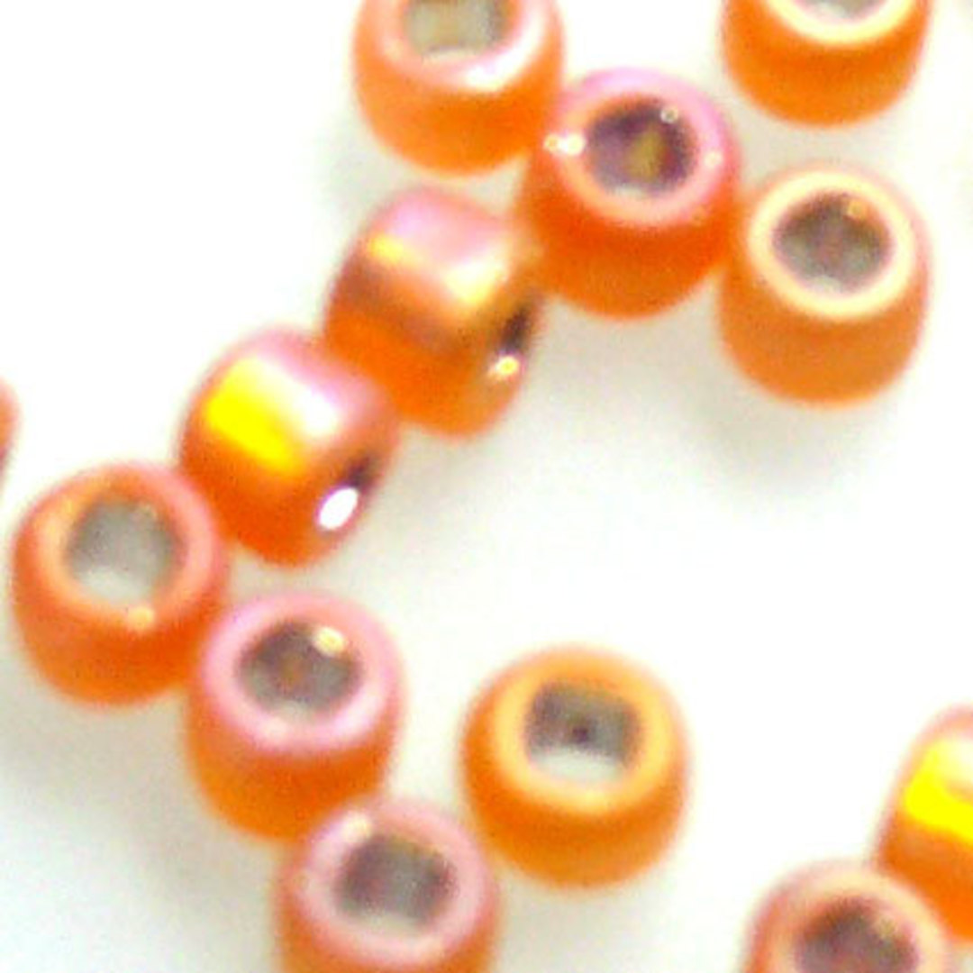 Matsuno size 8 round: F637 - Frosted Orange Shimmer image 1