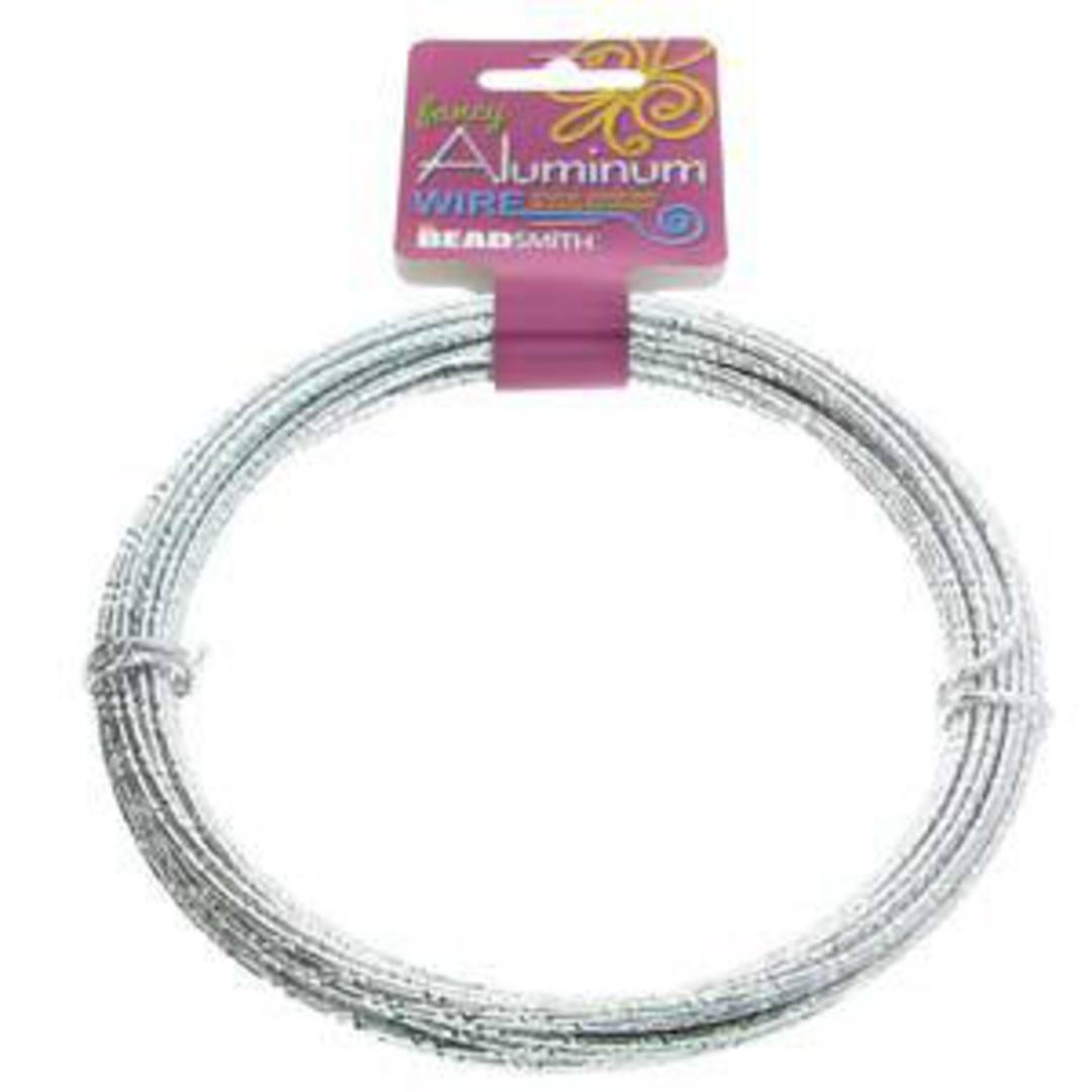Aluminum Diamond Cut Craft Wire: 12 gauge - Silver/Silver image 2