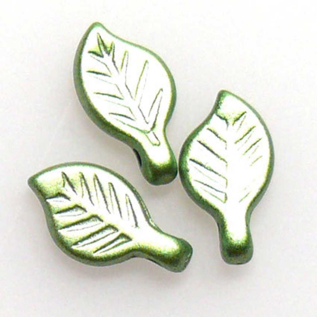 Acrylic Leaf, 5mm x 9mm - Peridot image 0