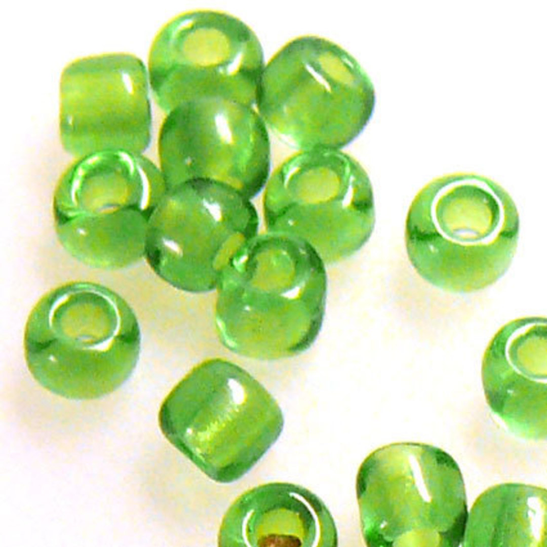 Miyuki size 8 round: 144 - Green Transparent image 1