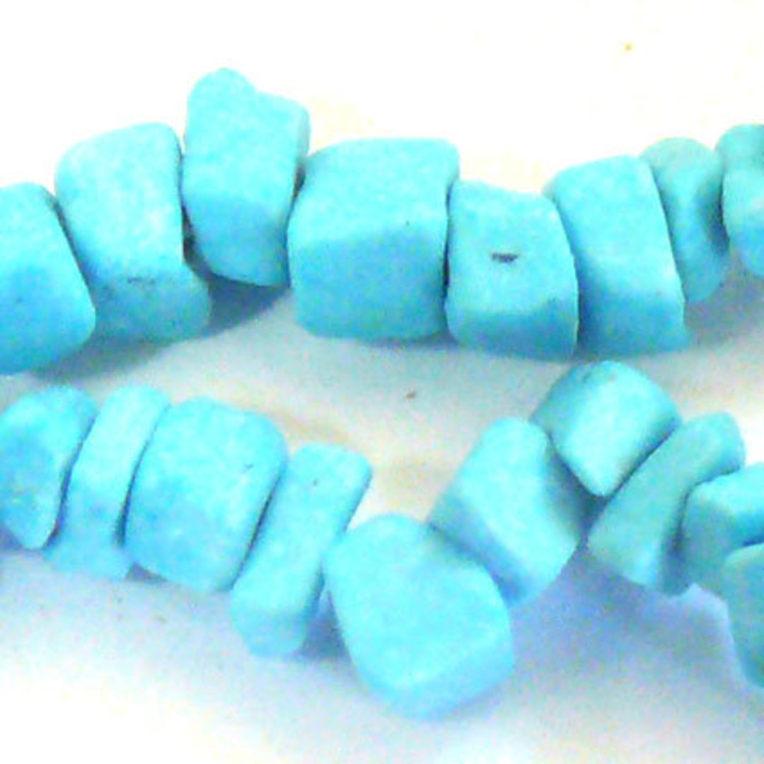 Blue Howlite Chips: 42cm strand (square-ish) image 0