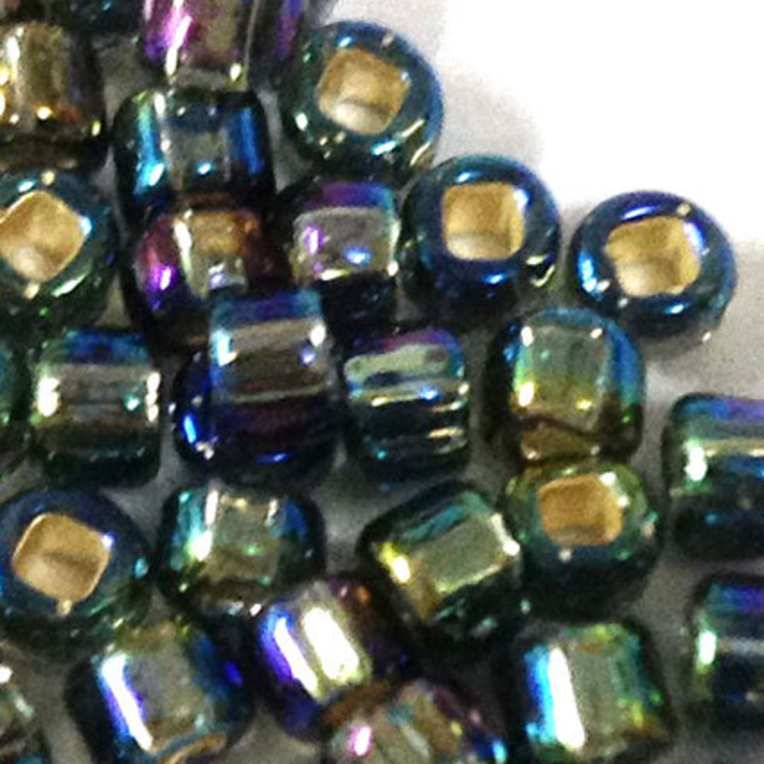 Matsuno size 8 round: 649 - Grey/Purple/Green shimmer. silver lined image 1