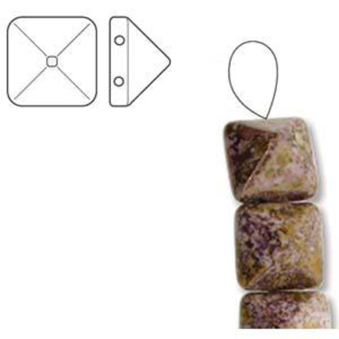 Pyramid Stud:  6mm - White Senegal Purple image 2