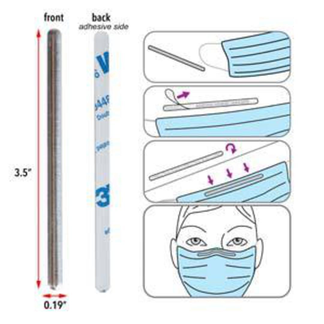 Aluminium strip for DIY facemasks with adhesive image 3