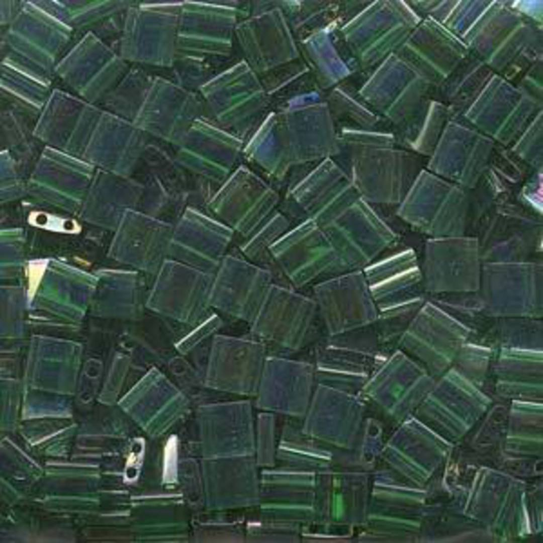 Tila Bead, 5mm, Green Transparent Luster image 0
