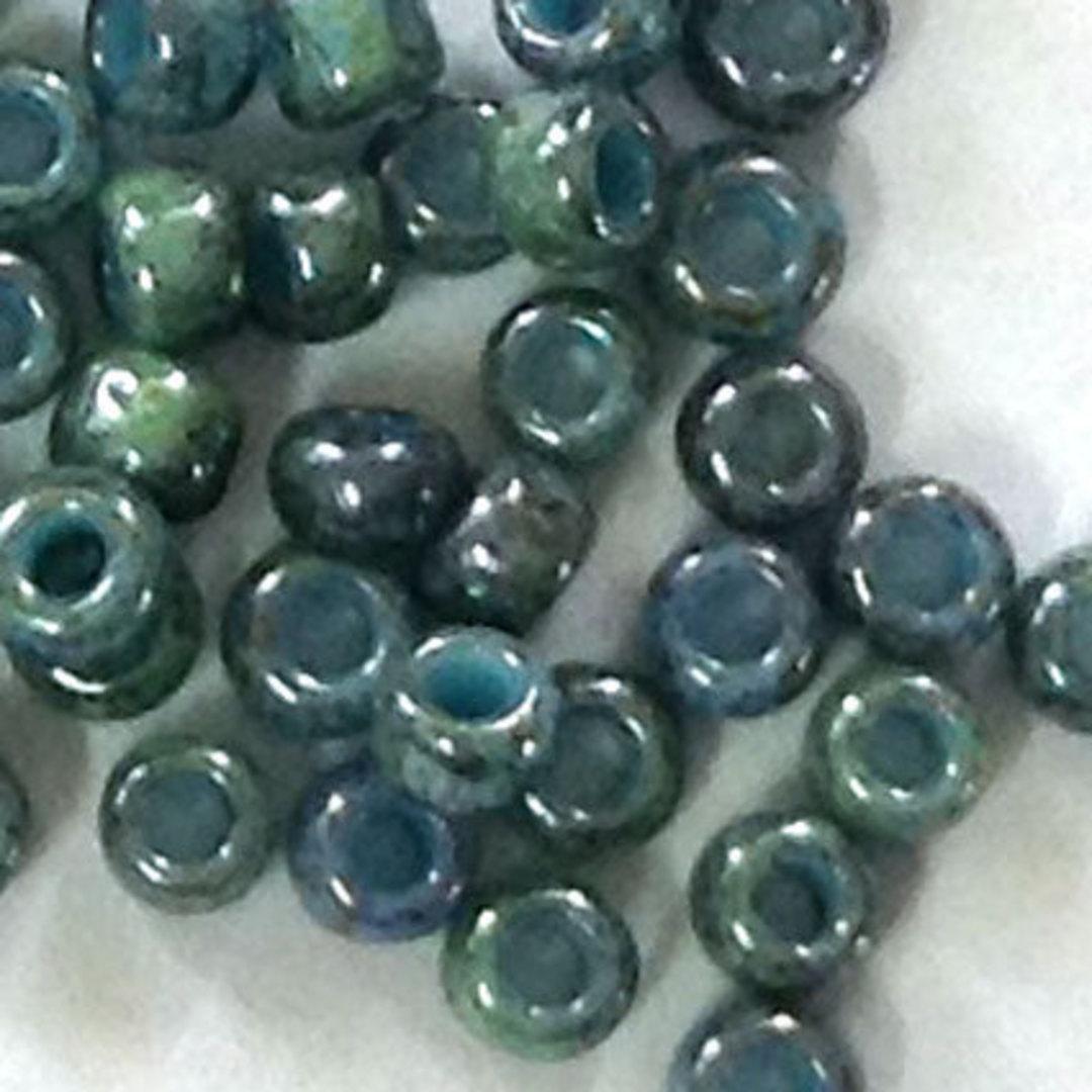 Toho size 11 round: 1208 - Stonewashed, Lt Teal Blue/Grey image 0