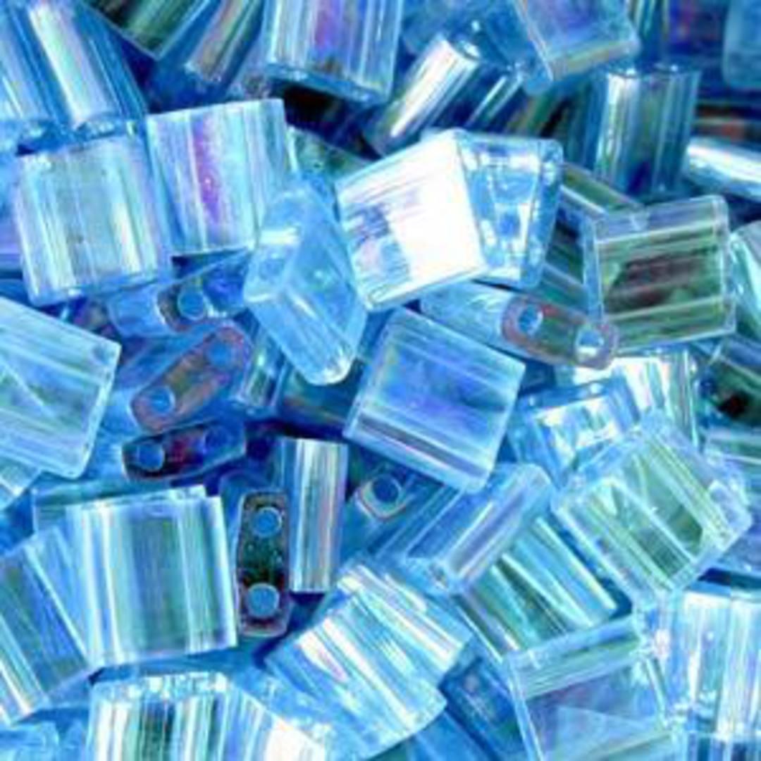 Tila Bead, 5mm, Transparent Lt Blue AB image 0