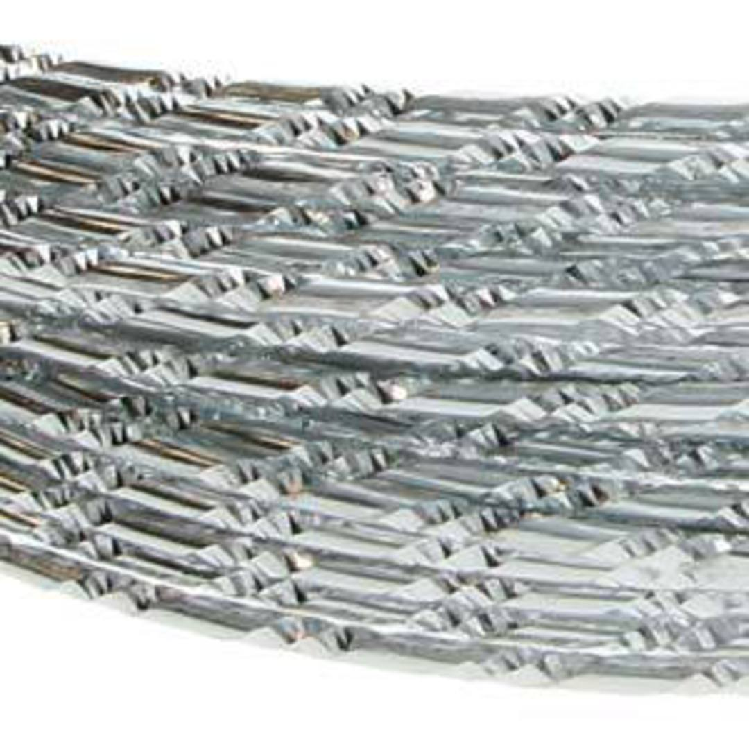 Aluminum Diamond Cut Craft Wire: 12 gauge - Silver/Silver image 0