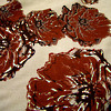peony posy - 2 tone red on natural