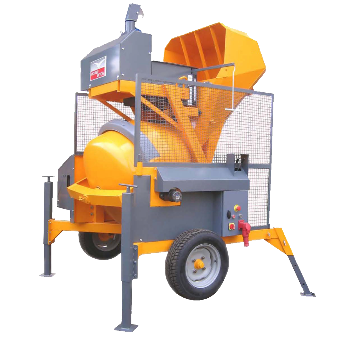 Altrad Belle RB500B Skip Feed Concrete Mixer - Three Phase Electric image 0