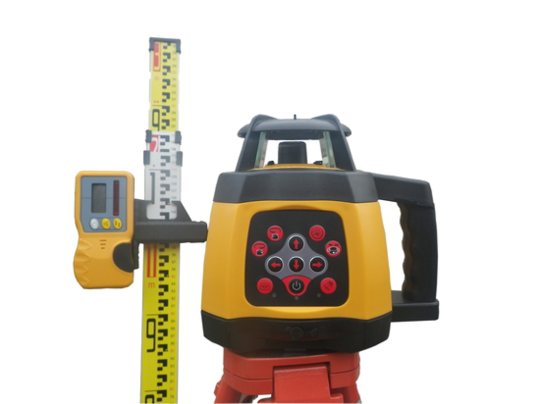 Rotating Laser Level RL250S Slope Function Incl Staff & Tripod image 0