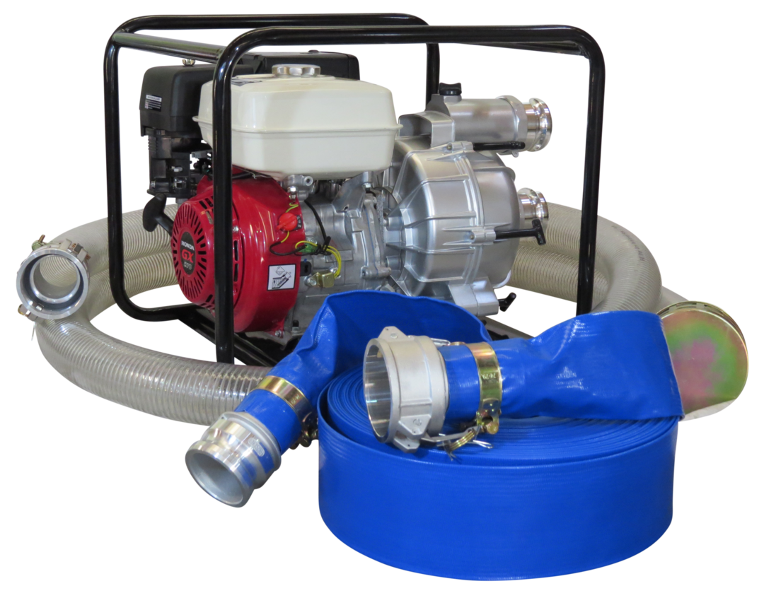 "3"" Honda Powered Trash Pump + Hose Kit image 0"