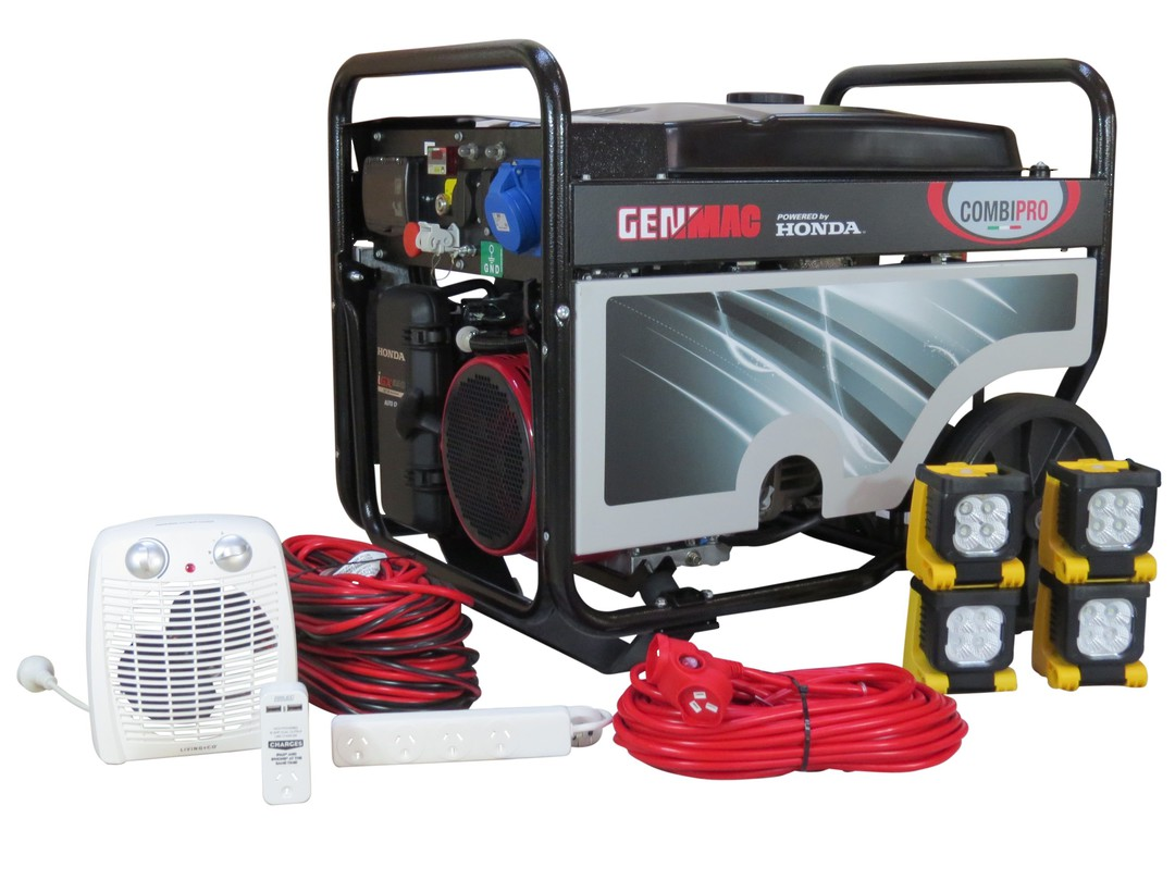 Genmac CombiPro RG7300HAC Pure Sinewave Generator + Emergency Backup Kit image 0