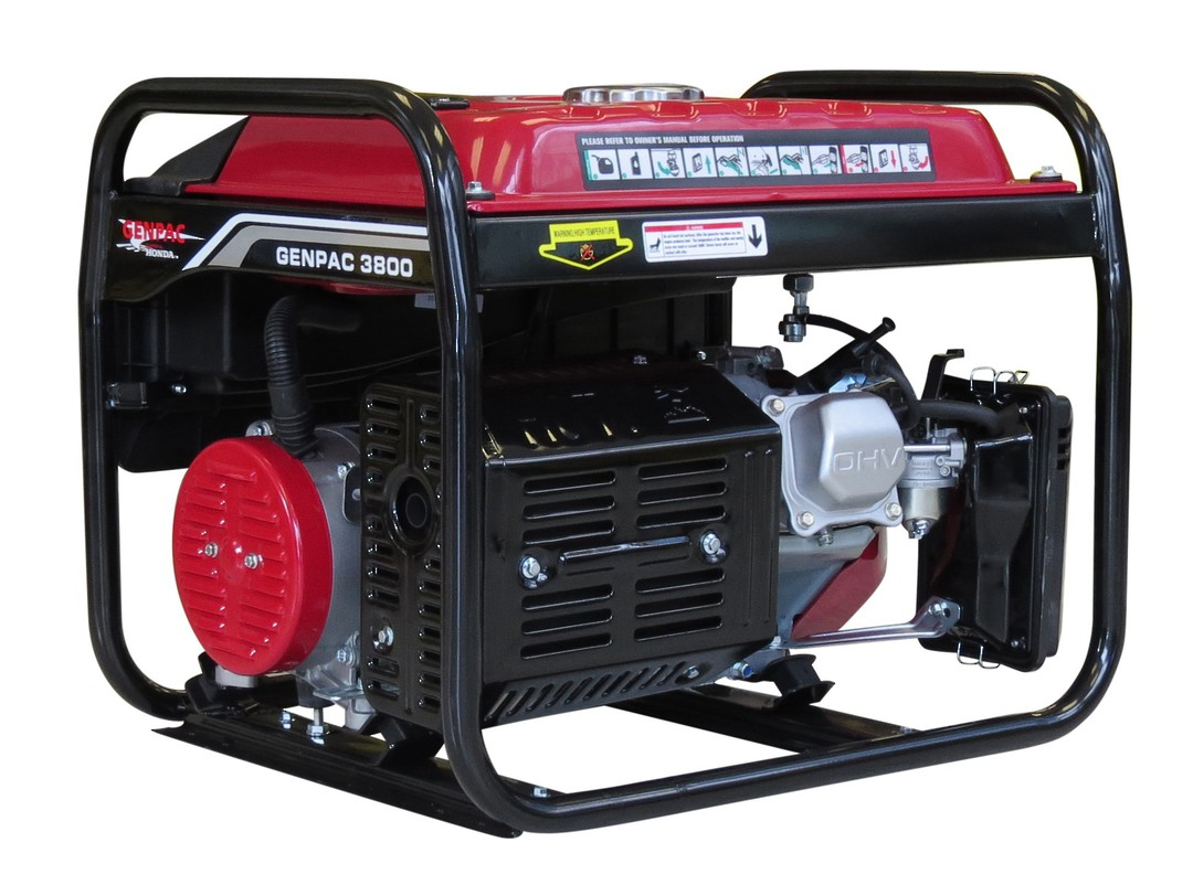 Genpac 3800 3.2kW Honda Powered Generator image 1