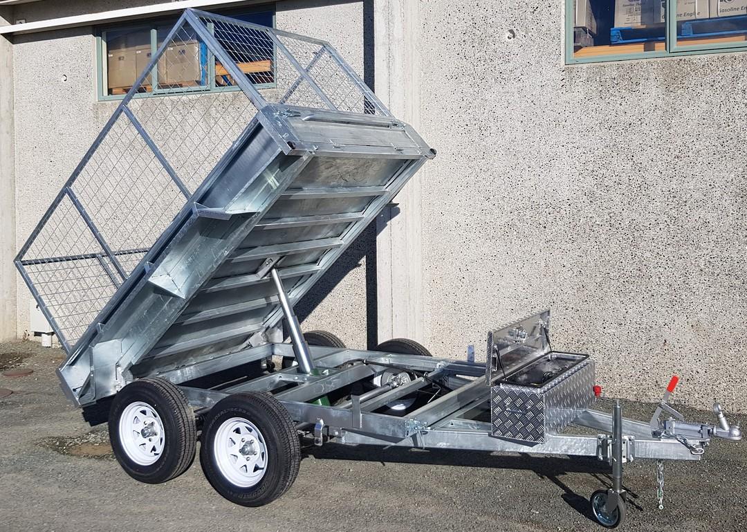 Safari Hydraulic Tipping 8x5 Tandem Axle Box Trailer Incl 900mm Cage image 0