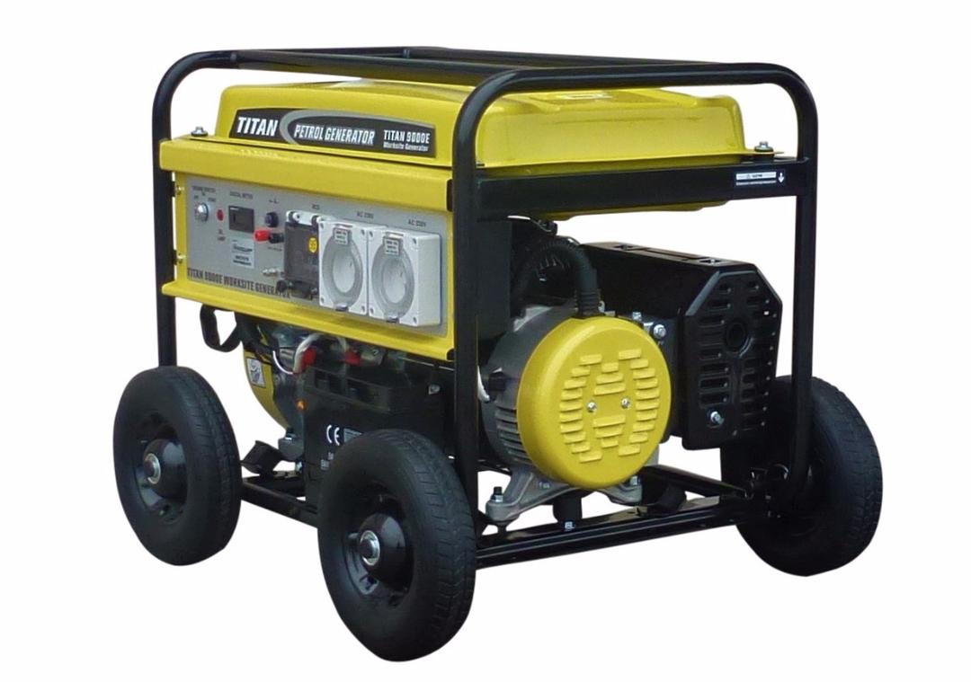 Titan 10000E 8.4kW Petrol Generator WORKSITE RCD image 1