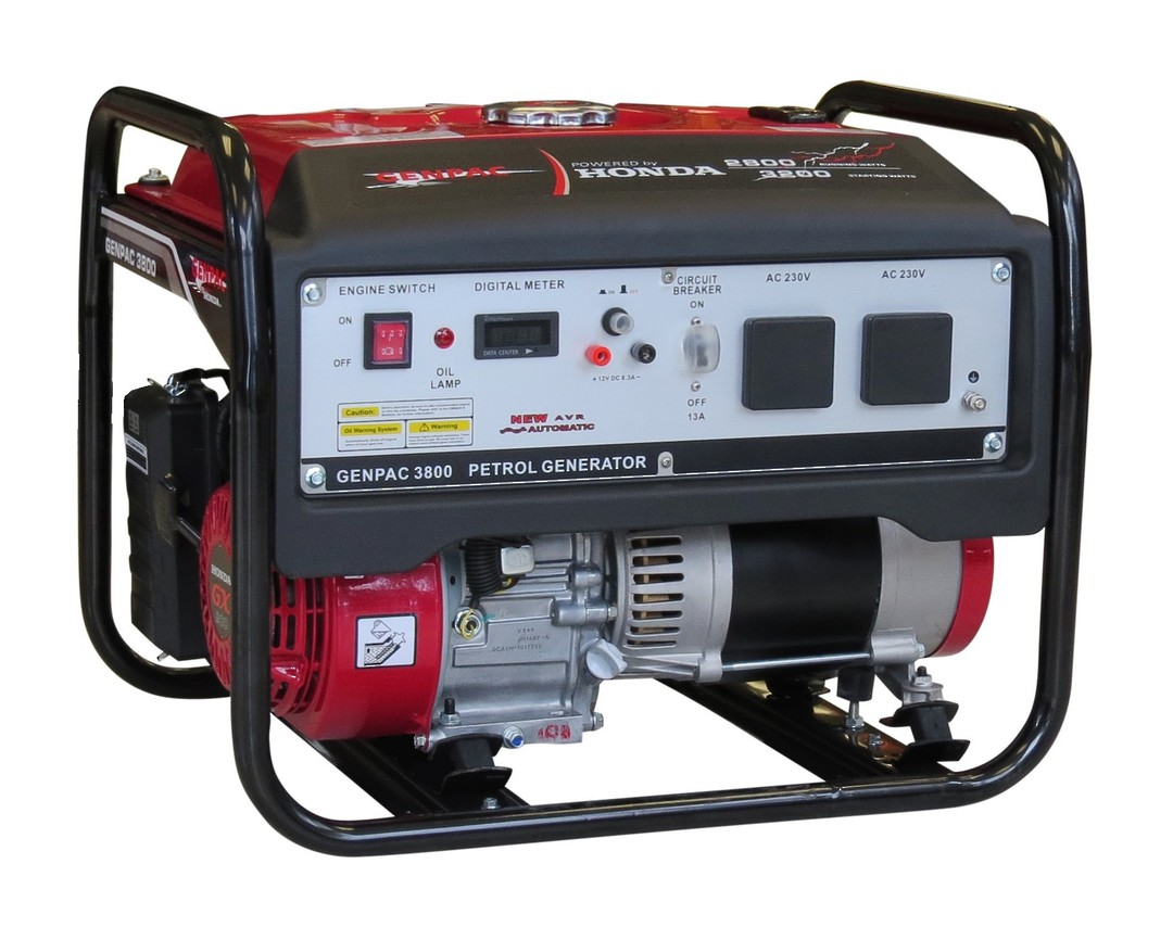 Genpac 3800 3.2kW Honda Powered Generator image 0