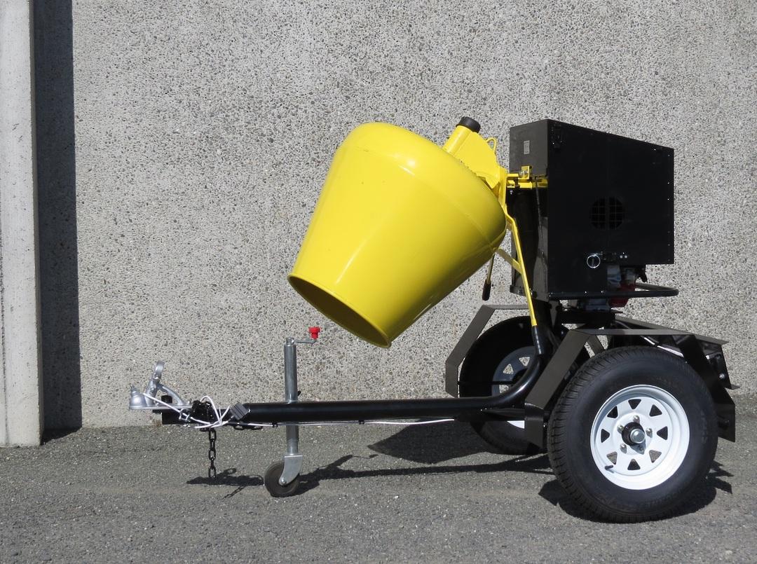 CYCLONE R190 Concrete Mixer Road Towable - Honda Petrol Engine image 1