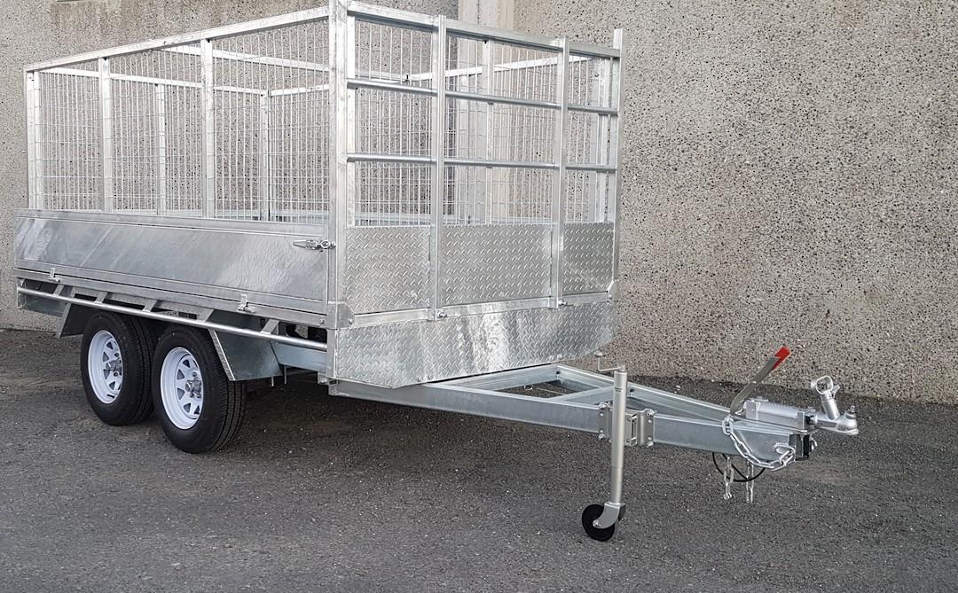 Safari 10x6 Tandem Axle Flatdeck Trailer Optional 1200mm Cage image 1
