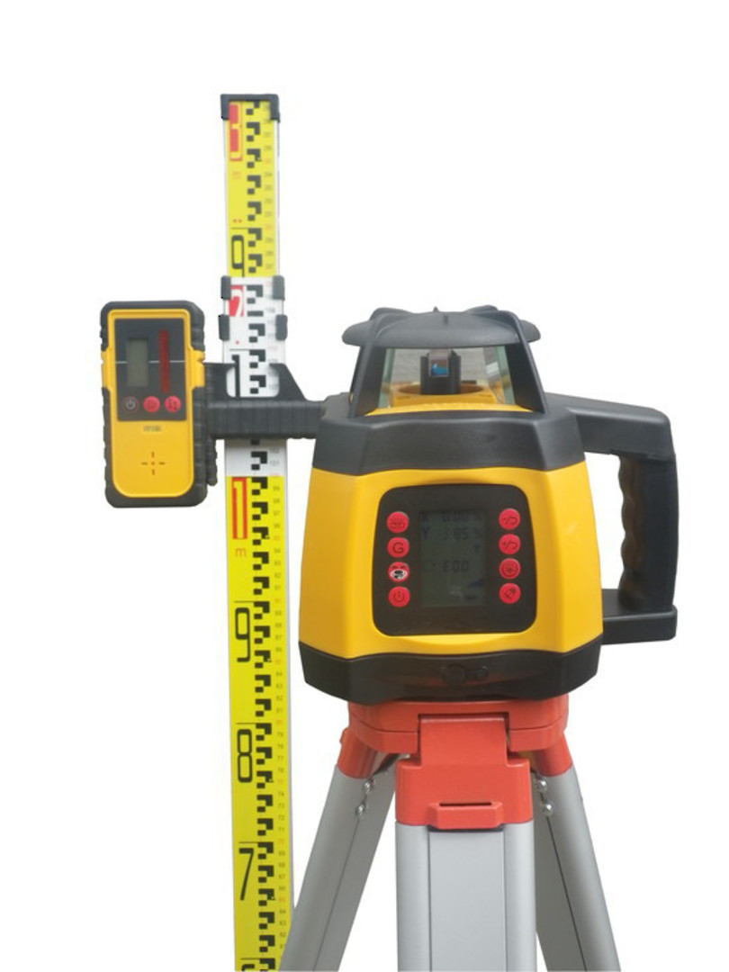 Rotating Laser Level RL300G Auto Leveling With Dial Up Grade Incl Staff & Tripod image 0