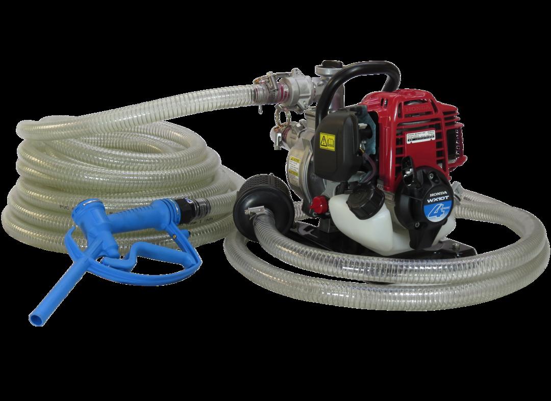 "1"" Honda WX10 Pump + Calf Milk Hose Kit image 0"