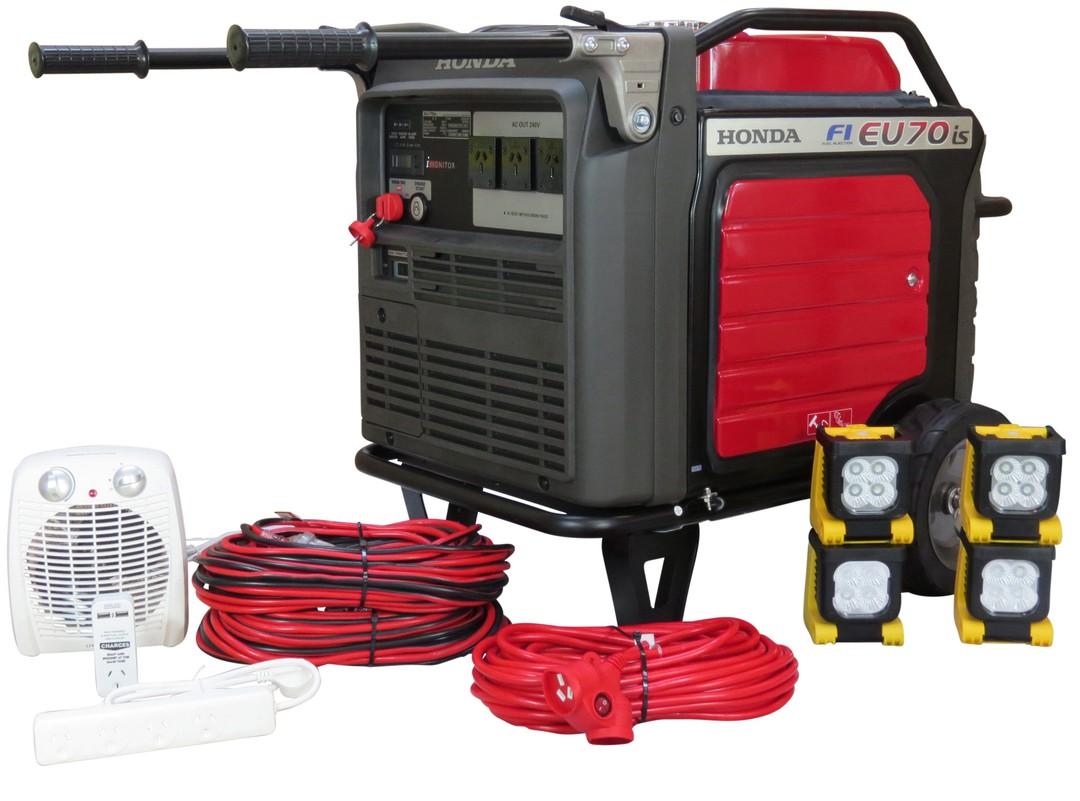 Honda EU70is Inverter Generator + Emergency Backup Kit image 0