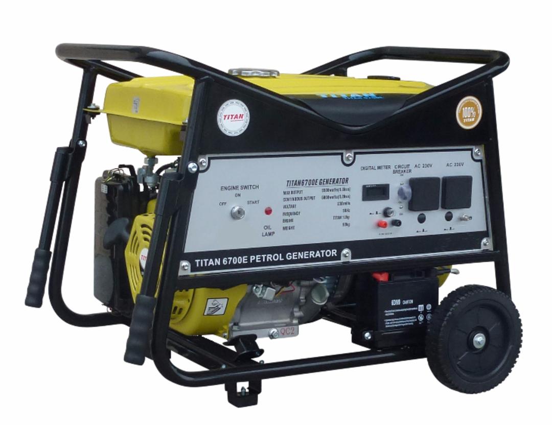 Titan 6700E 5.5kW Petrol Generator image 0