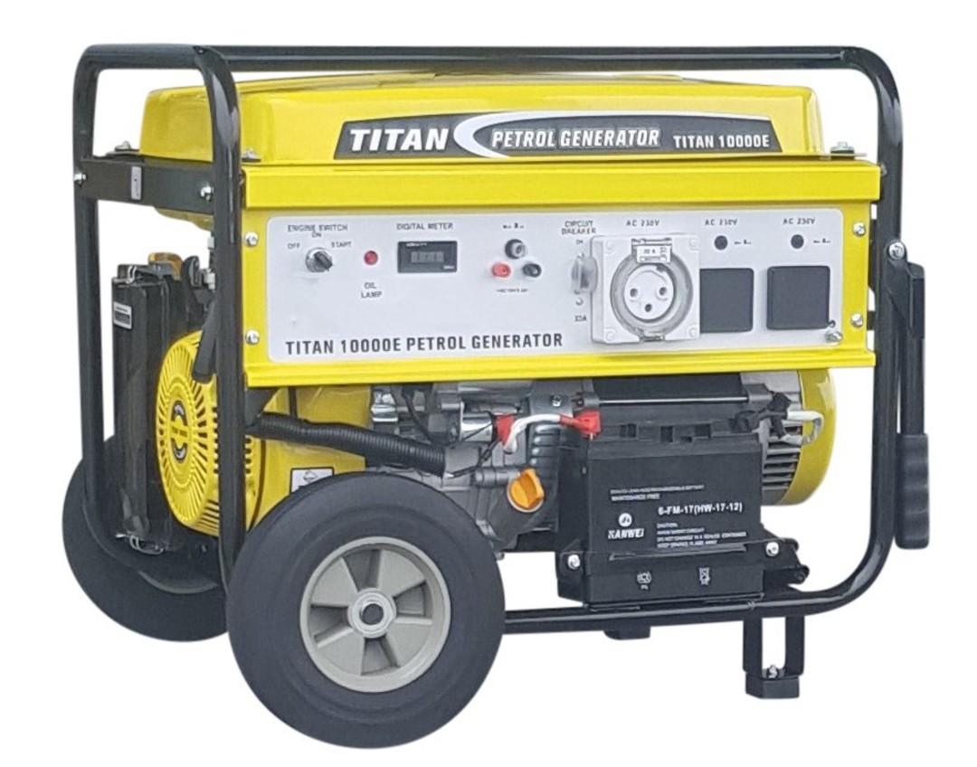 Titan 10000E Petrol Generator 32amp Single Socket image 0