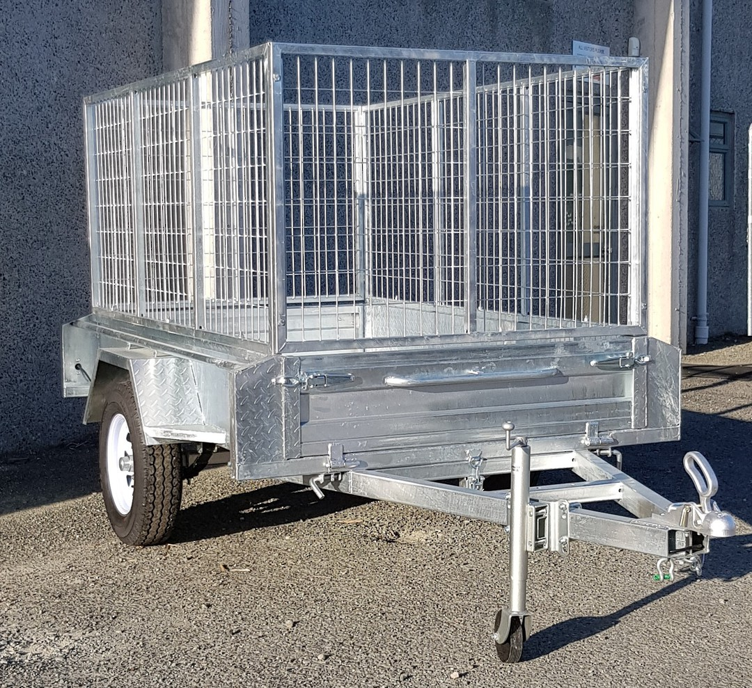 Safari 7x4 Single Axle Box Trailer Incl 900mm Cage image 0
