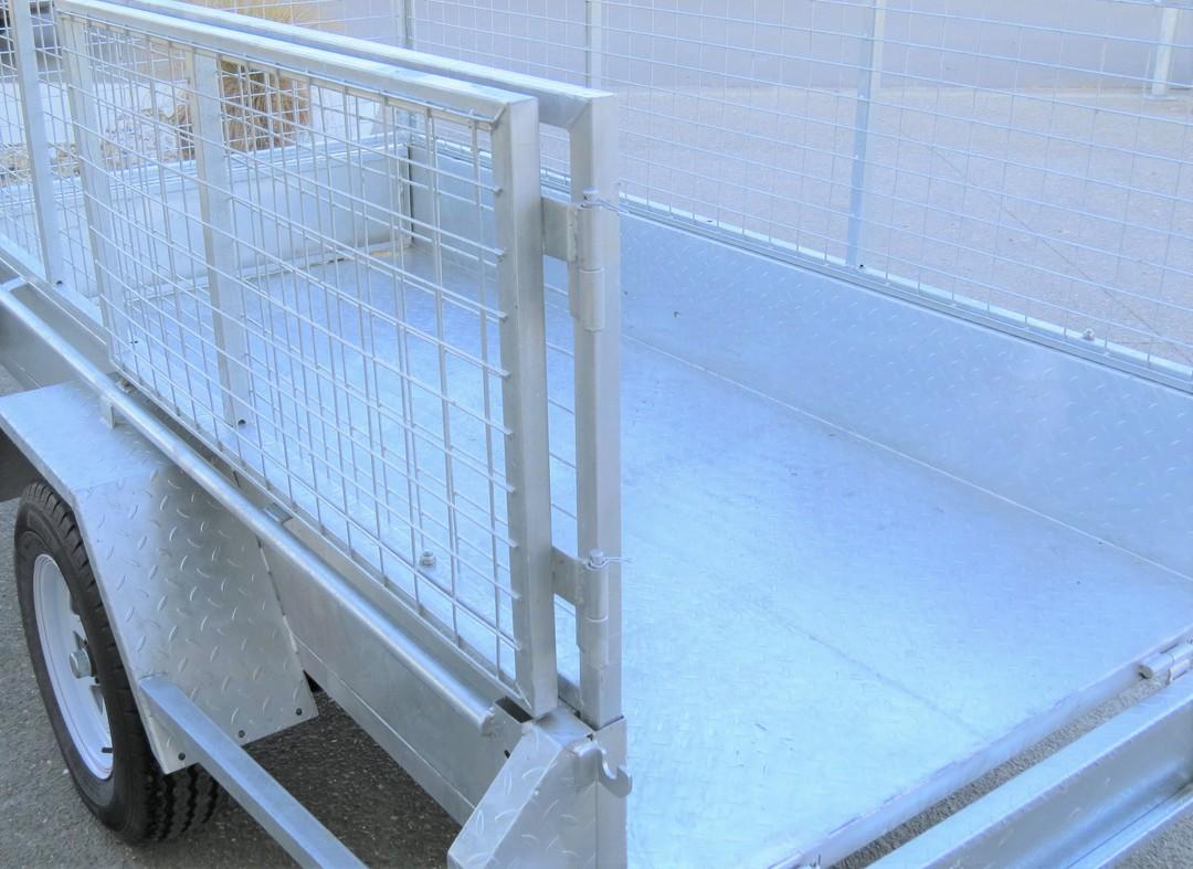 Safari 7x4 Single Axle Box Trailer Incl 600mm Cage image 1