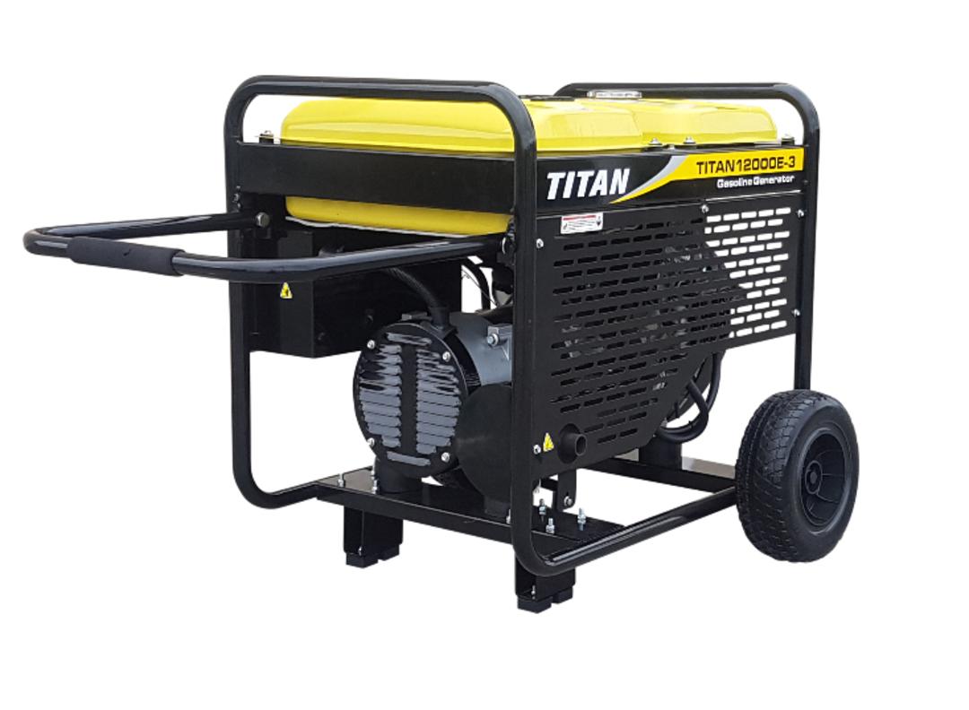 Titan 12000E-3 11kW Petrol Generator 3 phase image 1