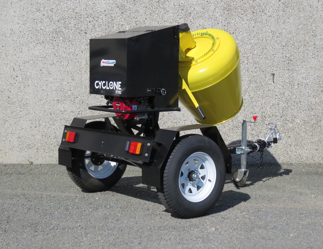 CYCLONE R190 Concrete Mixer Road Towable - Honda Petrol Engine image 1