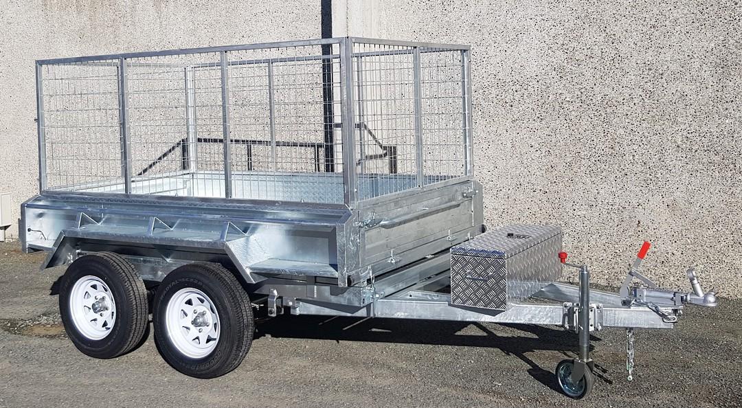 Safari Hydraulic Tipping 8x5 Tandem Axle Box Trailer Incl 900mm Cage image 2