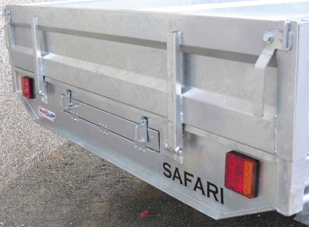 Safari 12x7 Tandem Axle Flatdeck Trailer Optional 1200mm Cage image 4