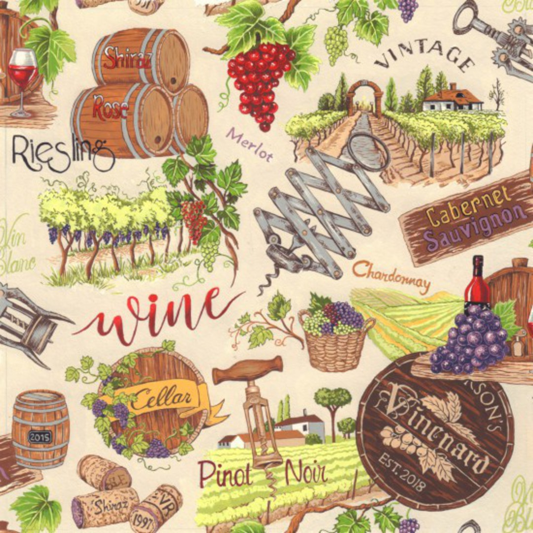Vines and Wines  Colour 2 Fat Quarter image 0