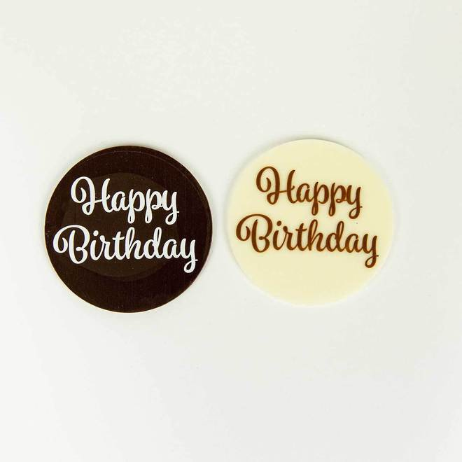 Happy Birthday Chocolate Plaque image 0