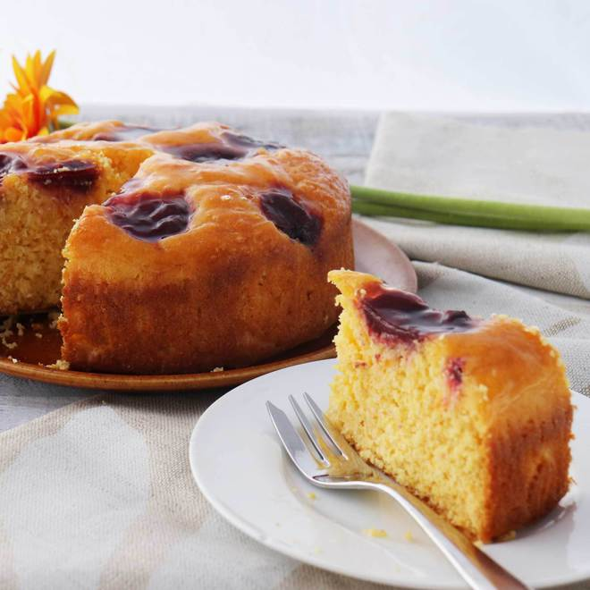 Low-Dairy & Low-Gluten Plum & Orange Cake image 0
