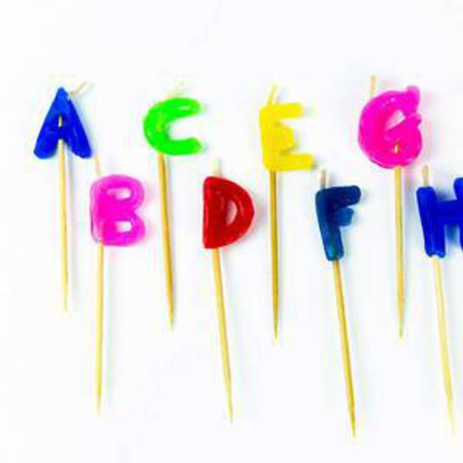 Individual Alphabet Candles image 0