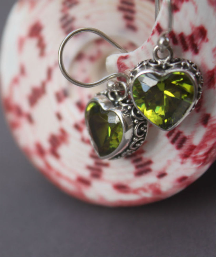 Silver Peridot Earrings! image 3