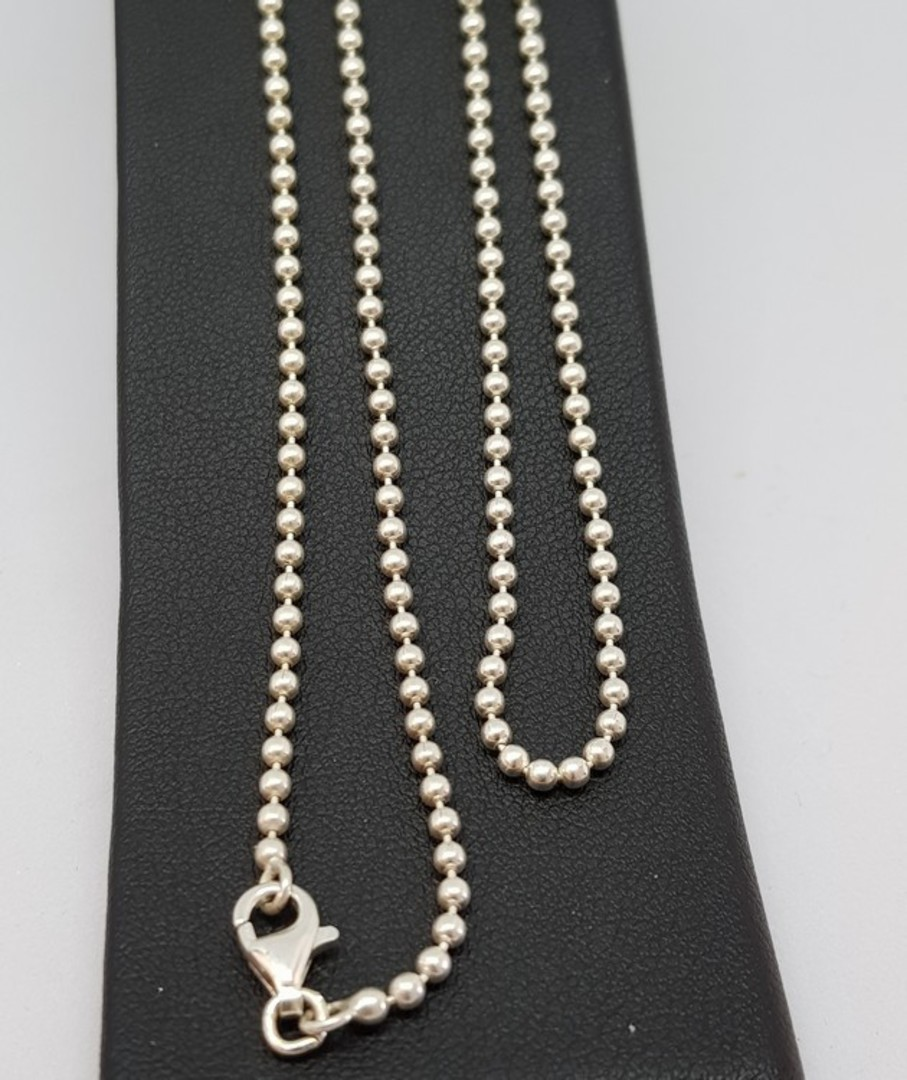 Sterling silver poppet ball chain 70cms long image 1