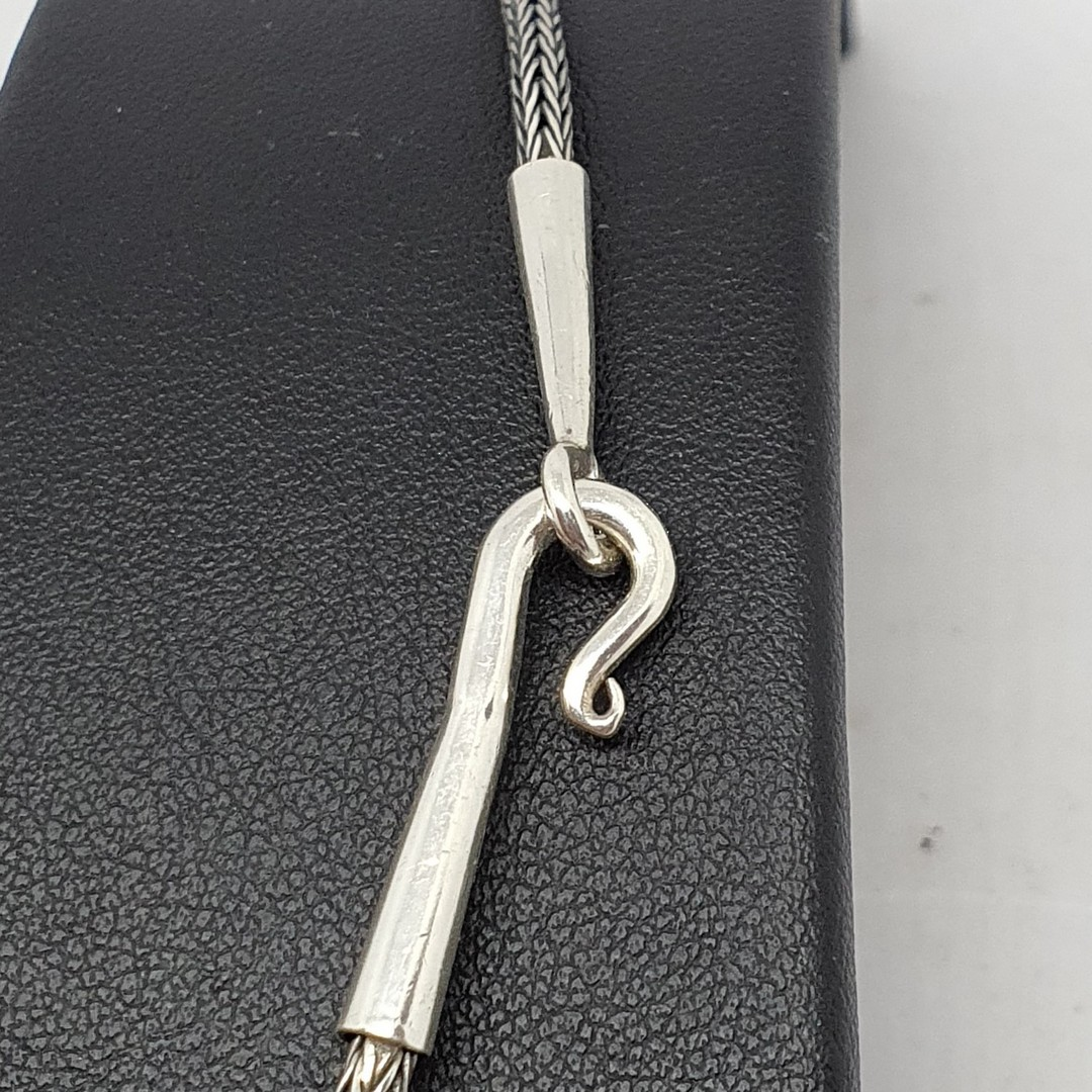 Sterling silver heavy rope chain, 45cms long image 3