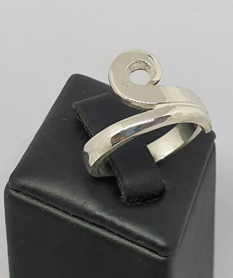 NZ made 925 silver koru ring image 3