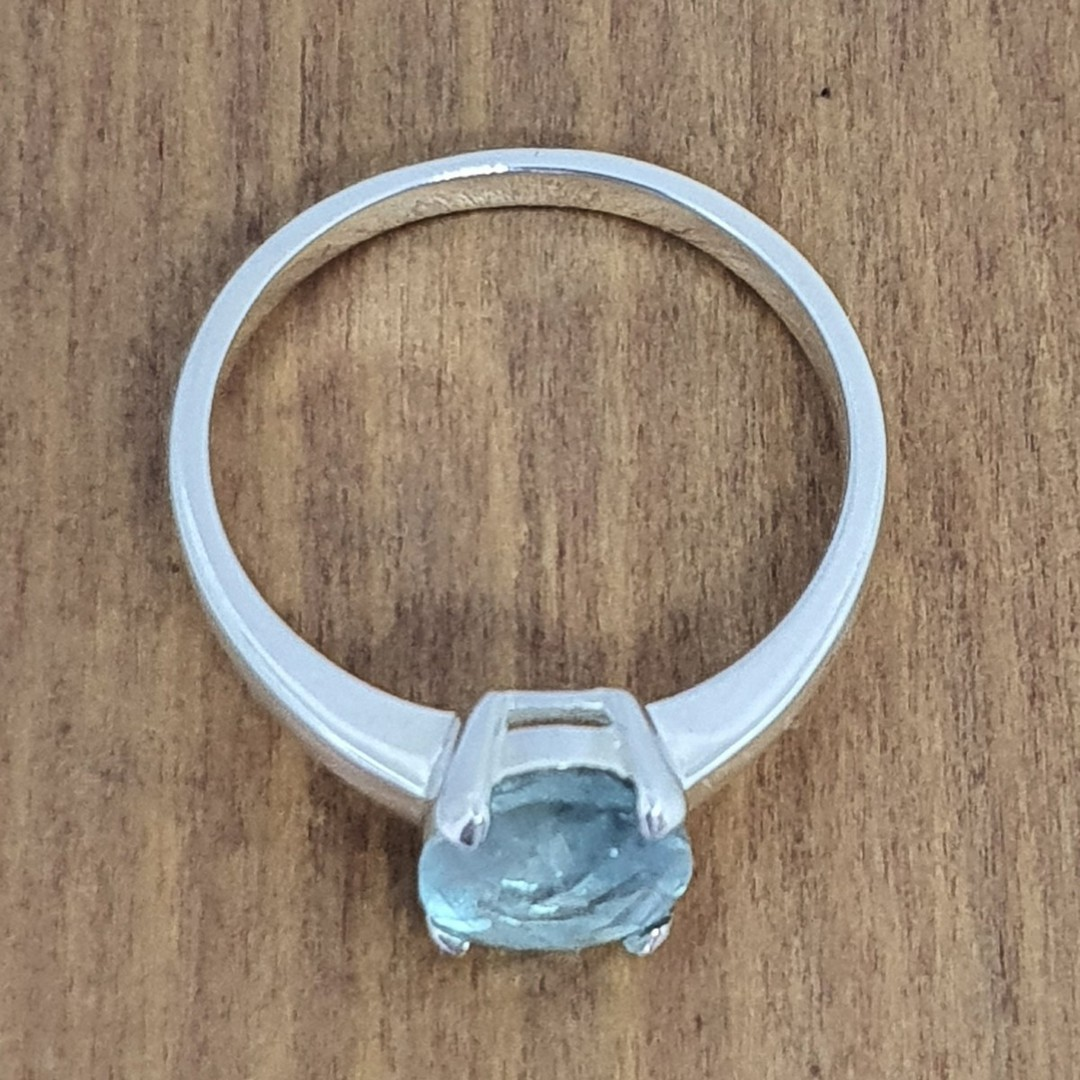 Sterling silver blue fluorite ring image 3